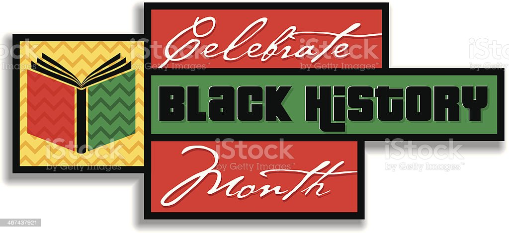 Black History Heading vector art illustration