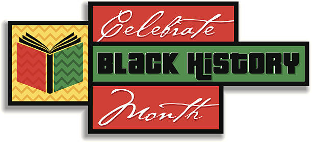 black history heading - black history month stock illustrations