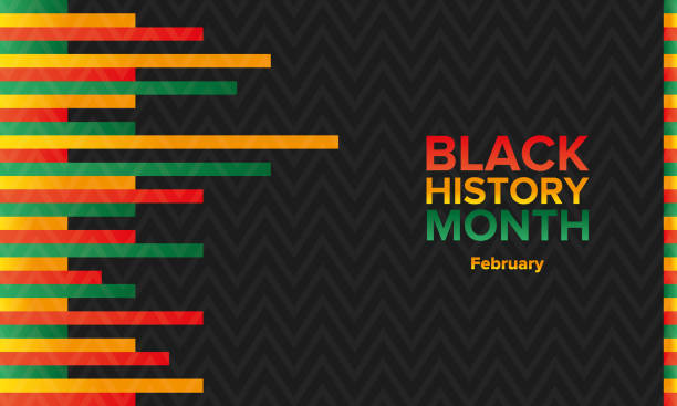 Black History Month. African American History. Celebrated annual in February in the USA and Canada, also in October in the Great Britain. Holiday in honor of the achievements of black people on history. Poster, banner, greeting card and background Black History Month. African American History. Celebrated annual in February in the USA and Canada, also in October in the Great Britain. Holiday in honor of the achievements of black people on history. Poster, banner, greeting card and background black history month stock illustrations