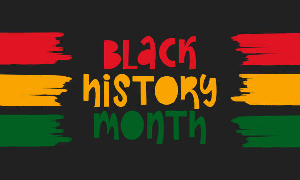 Black History Month. African American History. Celebrated annual. In February in United States and Canada. In October in Great Britain. Poster, card, banner, background. Vector illustration Black History Month. African American History. Celebrated annual. In February in United States and Canada. In October in Great Britain. Poster, card, banner, background. Vector illustration black history month stock illustrations