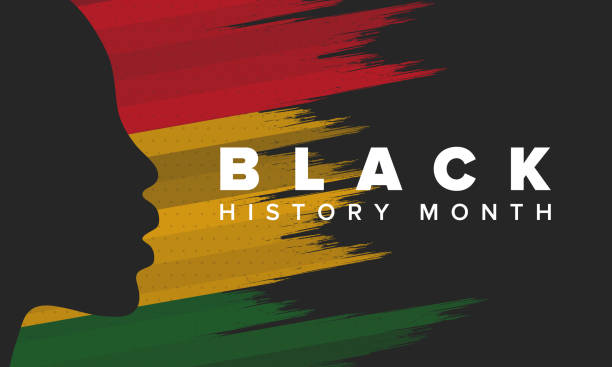 black history month. african american history. celebrated annual. in february in united states and canada. in october in great britain. poster, card, banner, background. vector illustration - black history month stock illustrations