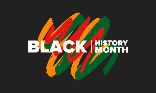 Black History Month. African American History. Celebrated annual. In February in United States and Canada. In October in Great Britain. Poster, card, banner, background. Vector illustration vector art illustration