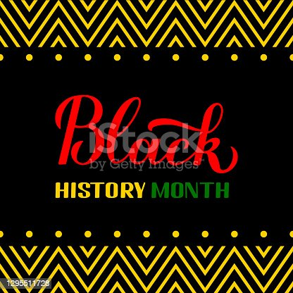Black History Month. Annual event in February for USA and in October in UK. Vector template for typography poster, banner, flyer, label, etc.