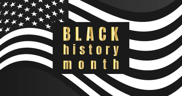 Black History Month background. Poster, card, banner vector art illustration