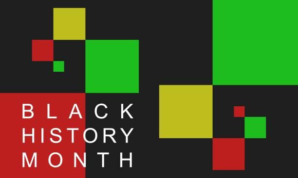Black History Month - background.  Poster, card, banner vector art illustration