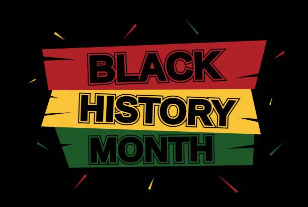 Black History Month banner card. Vector Black History Month banner card. Vector illustration. EPS10 civil rights stock illustrations