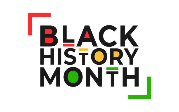 Black History Month banner. Vector illustration of design template for national holiday poster or card. Annual celebration in february in USA and Canada, october in UK Black History Month banner. Vector illustration of design template for national holiday poster or card. Annual celebration in february in USA and Canada, october in UK. black history month stock illustrations