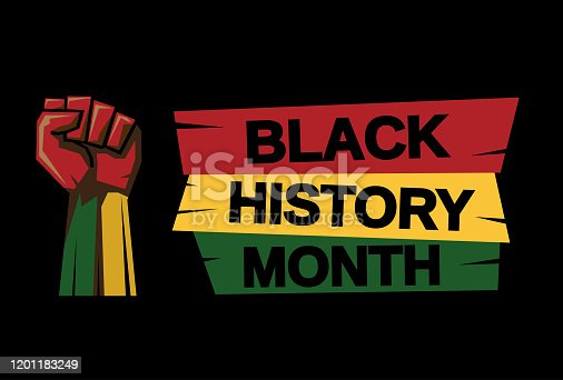 Black History Month card. Vector illustration. EPS10