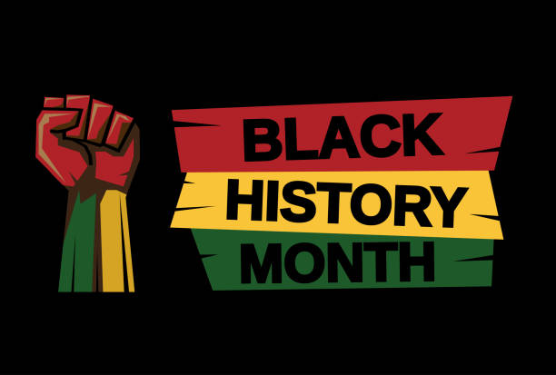 black history month kartı. vektör - black history month stock illustrations