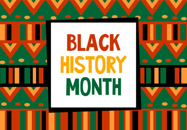 Black history month celebration vector banner. Art with ethnic African patterns. African-American History Month illustration for social media, card, poster. Black history month celebration vector banner. African-American people History Month illustration for social media, card, poster. Art with ethnic African patterns. civil rights stock illustrations