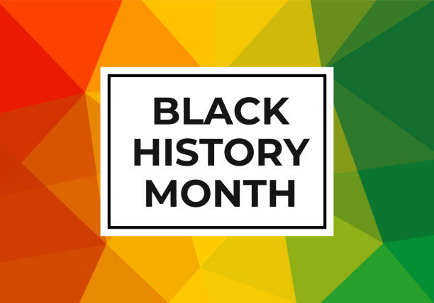 Black history month celebration vector banner. Art with low poly abctract modern African colors. African-American History Month illustration for social media, card, poster. Black history month celebration vector banner. African-American History Month illustration for social media, card, poster. Art with low poly abstract modern African colors. black history month stock illustrations