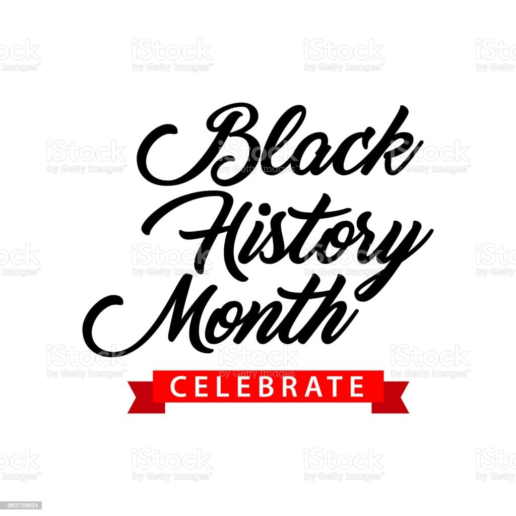 Black History Month Celebration Vector Template Design vector art illustration