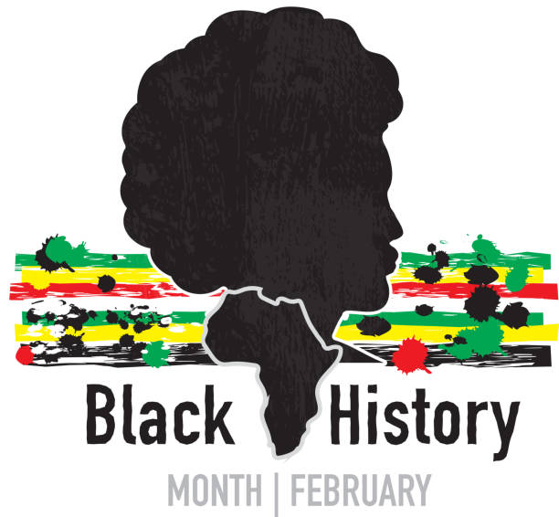 Royalty free black history month clip art vector images for Black history month craft