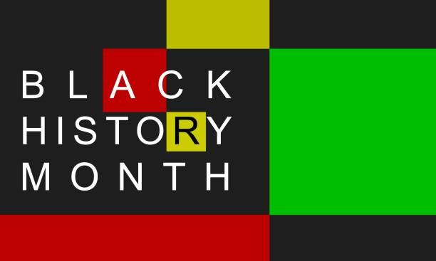 Black History Month February 2021 background.  Poster, card, banner vector art illustration