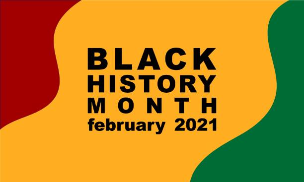 Black History Month February 2021- poster, card, banner, background. EPS 10 vector art illustration