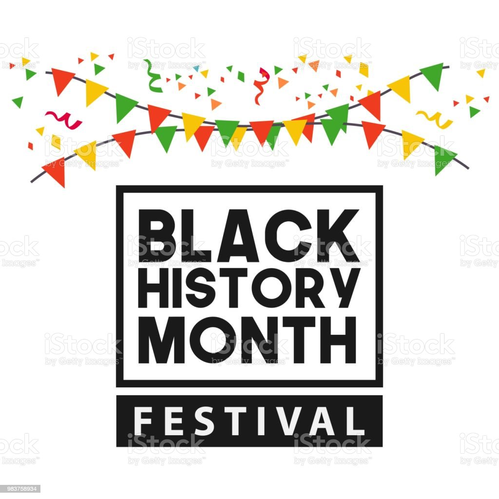 Black History Month Festival Vector Template Design vector art illustration