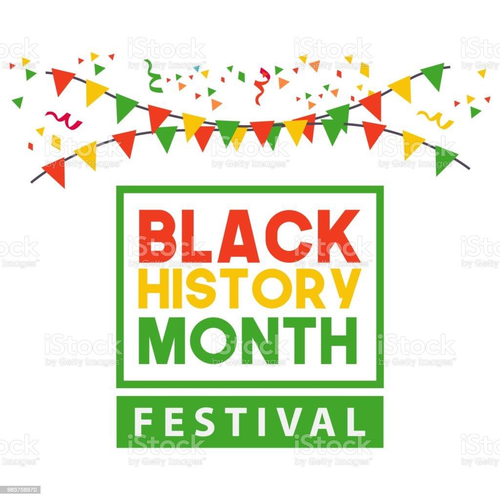 Black History Month Festival Vector Template Design vector art illustration