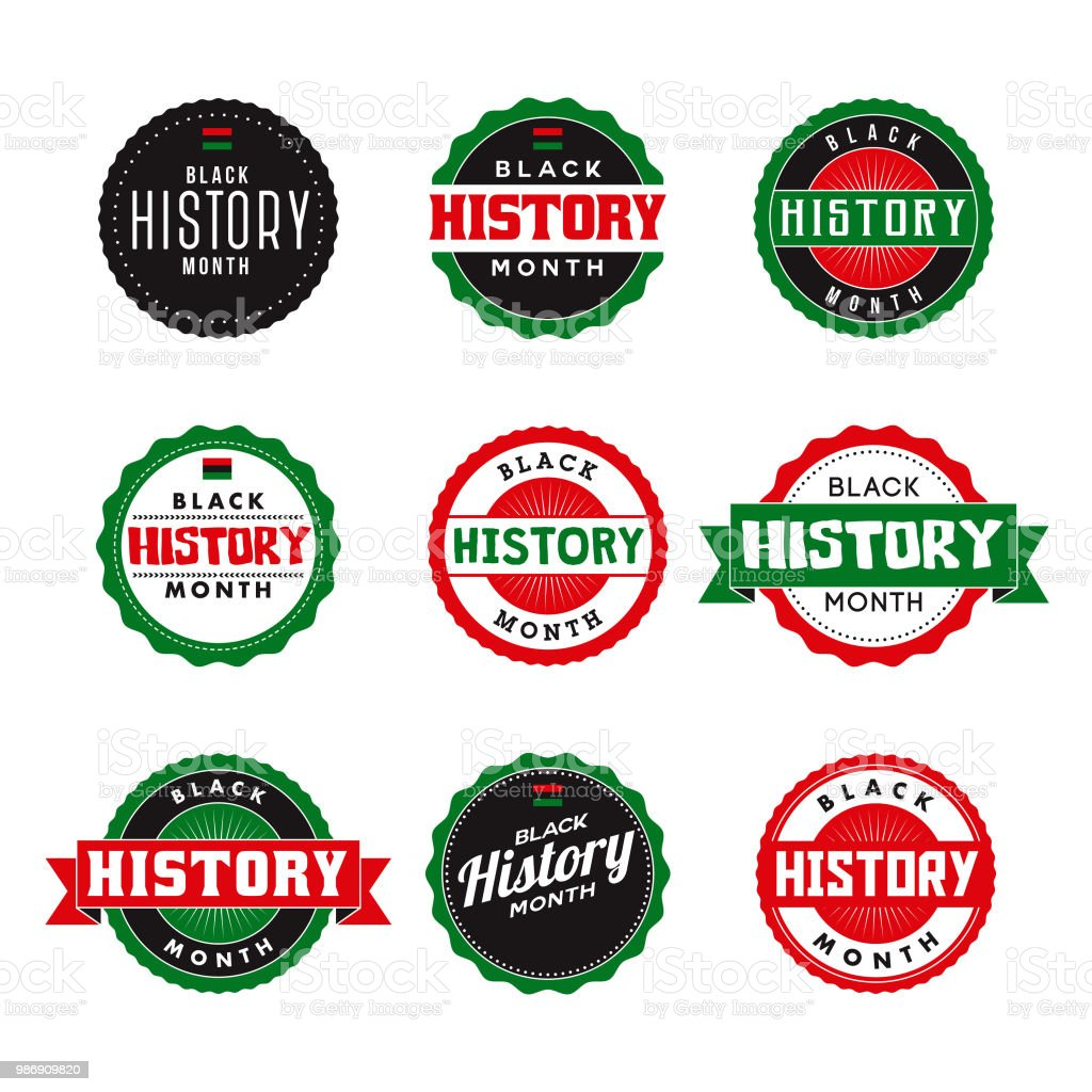 Black History Month Icon Set vector art illustration