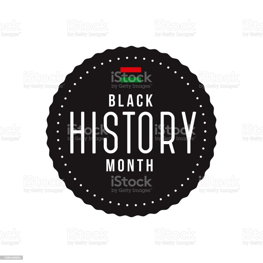Black History Month Label vector art illustration