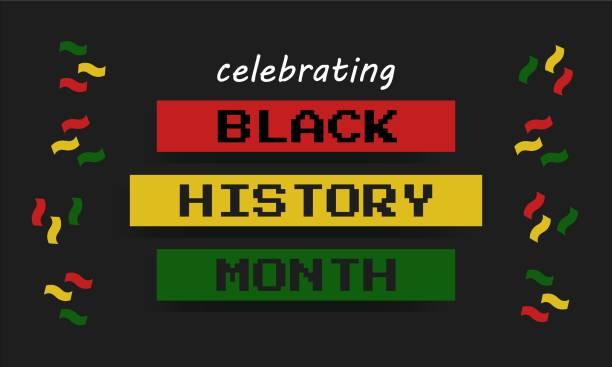 Black History Month - poster,  card, background vector art illustration