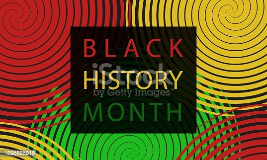 Black History Month - poster,  card, background