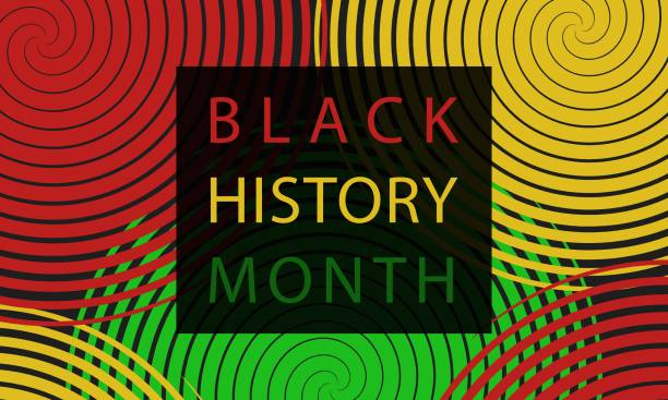 Black History Month - poster,  card, background Black History Month - poster,  card, background black history month stock illustrations