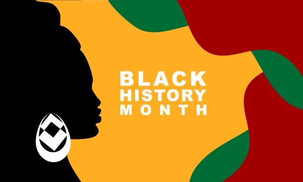 Black History Month - poster, card, banner, background. EPS 10 vector art illustration