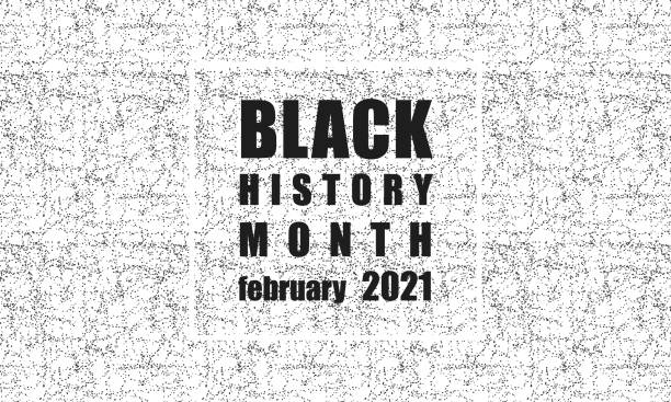 Black History Month - Poster, card, banner, background vector art illustration