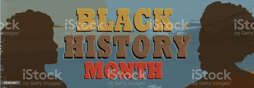 Black History month poster design with lot's of texture banner vector art illustration