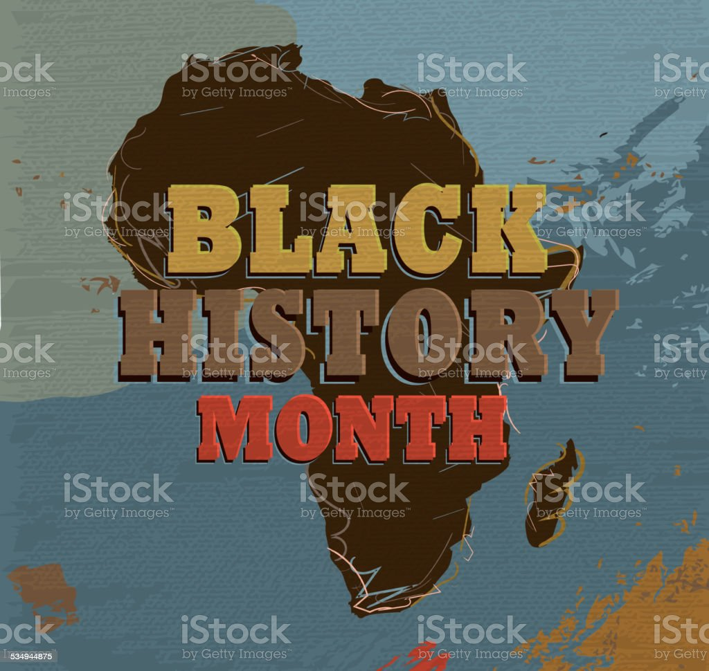 Black History month poster design with lot's of texture vector art illustration