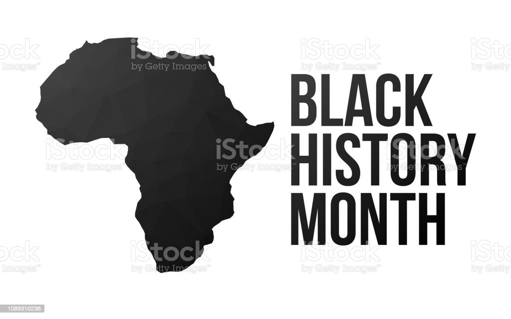 Black History Month poster vector art illustration