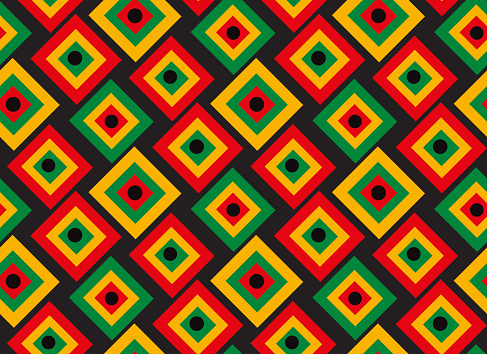 Black history month seamless Pattern, repeating texture. Background wallpaper or paper. Vector illustration