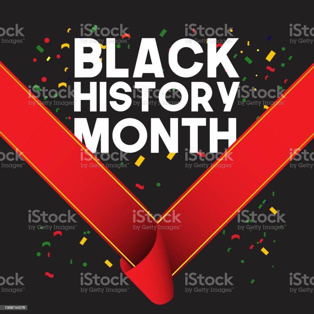 Black History Month Vector Template Design Illustration vector art illustration