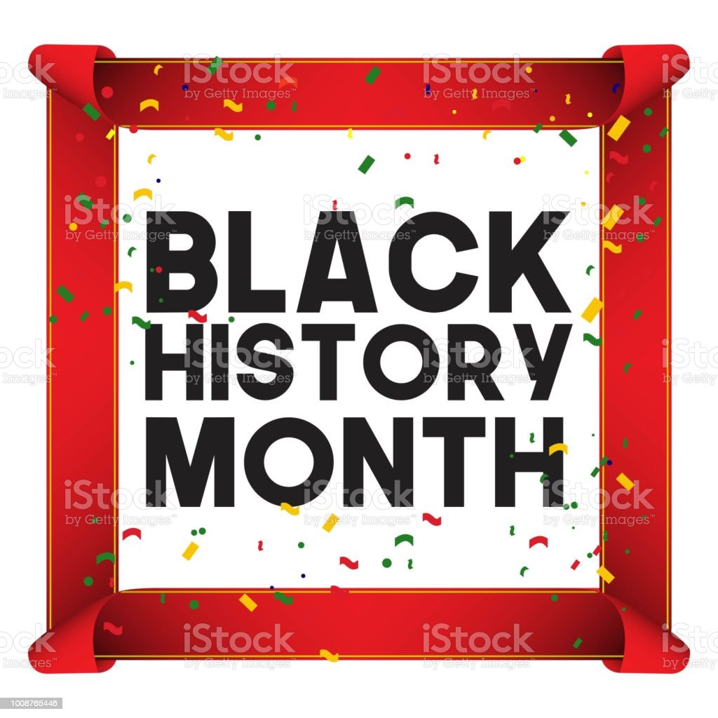 Black History Month Vector Template Design Illustration Royalty Free