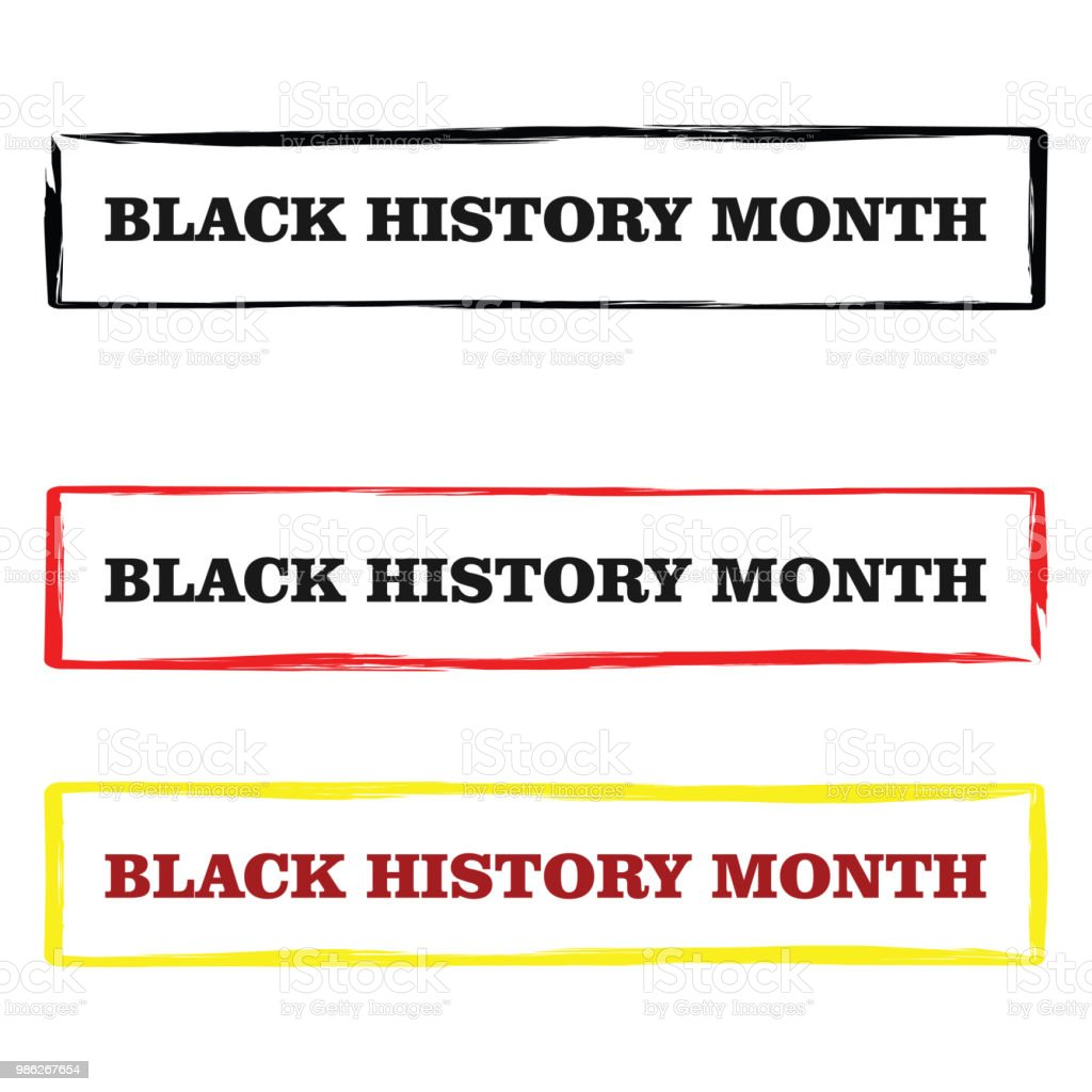 Black History Month Vector Template Design vector art illustration