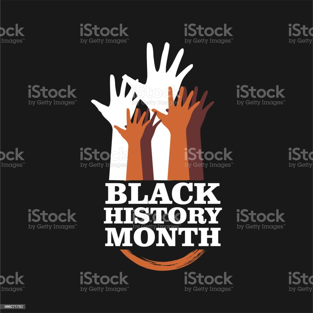 Black History Month Vector Template Design vector art illustration