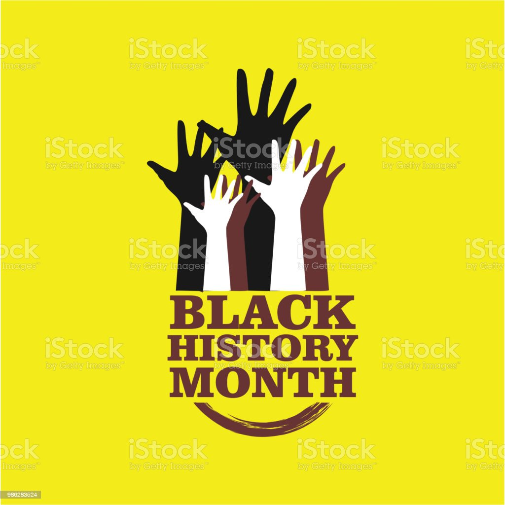 Black History Month Vector Template Design Royalty Free Stock