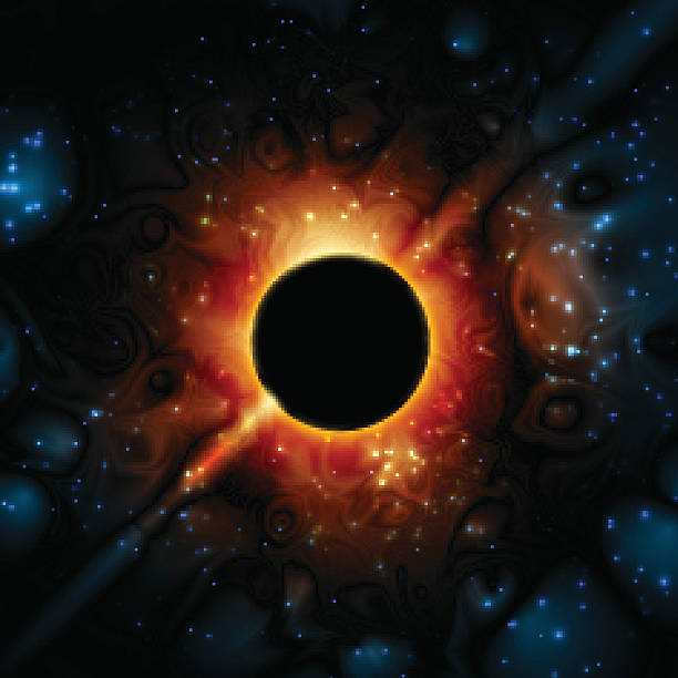 Black Hole Supermassive Gravity Universe Space vector art illustration
