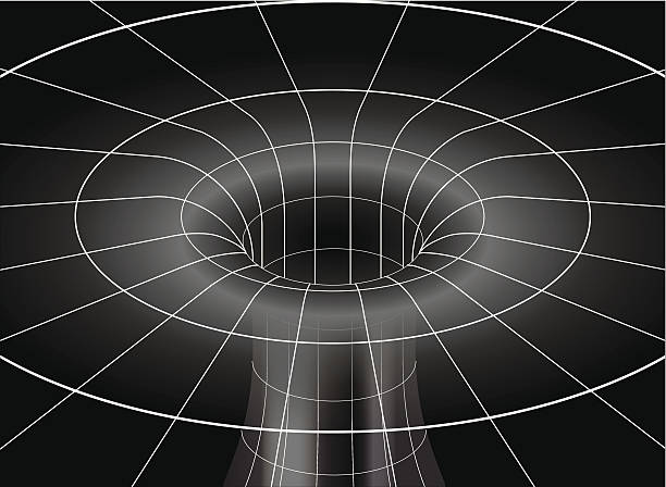 Black Hole vector art illustration