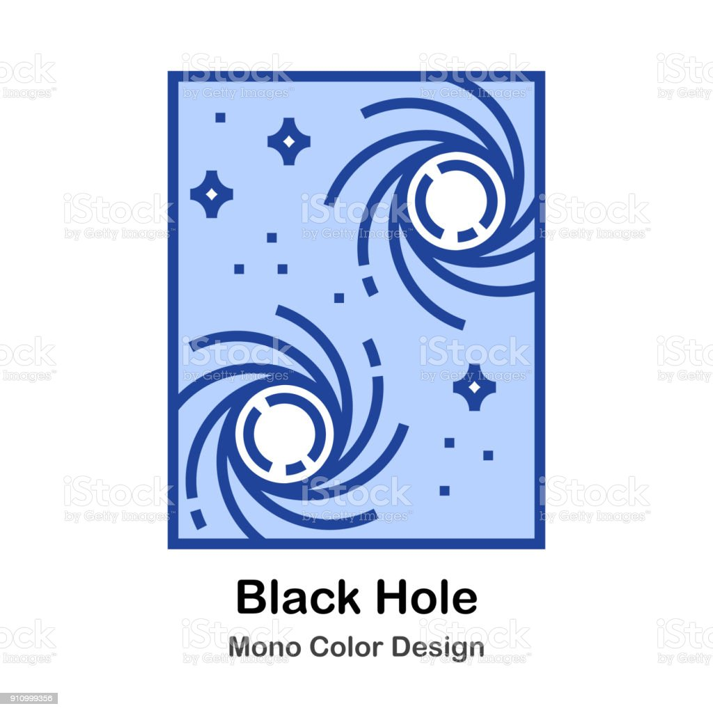 Black Hole vector art illustration