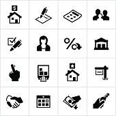 Black Home Mortgage Icons