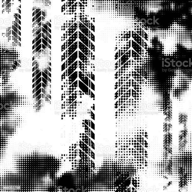 Svart Horisontella Halvton Däck Spår-vektorgrafik och fler bilder på Abstrakt