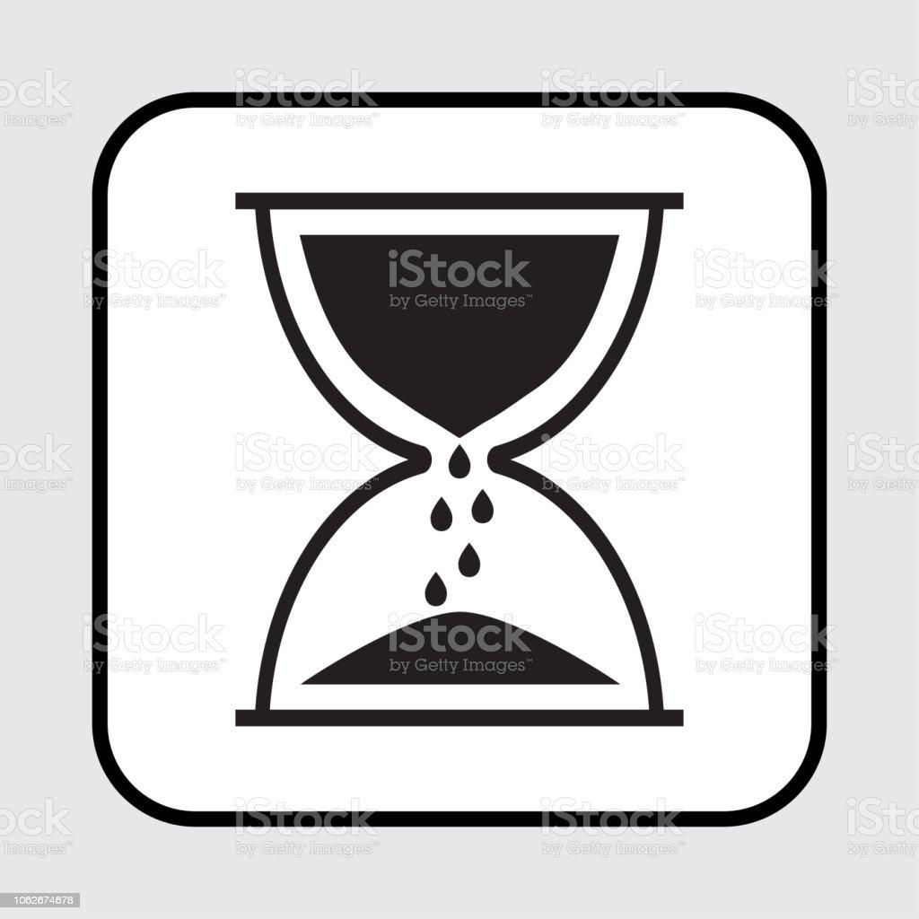 Ilustración De Icono De Reloj De Arena Negro Ilustración De Vector Y
