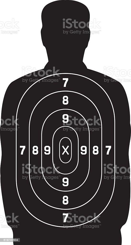 black human target - ilustração de arte em vetor