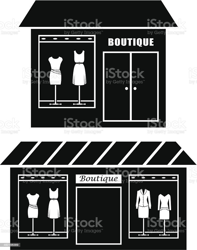 Black icon of boutique royalty-free stock vector art