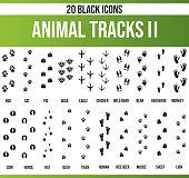 Black Icon Set Animal Tracks II
