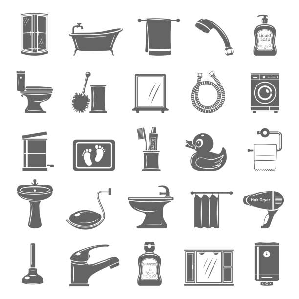 Bathroom Clip Art Black And White: Best Toilet Bowl Illustrations, Royalty-Free Vector