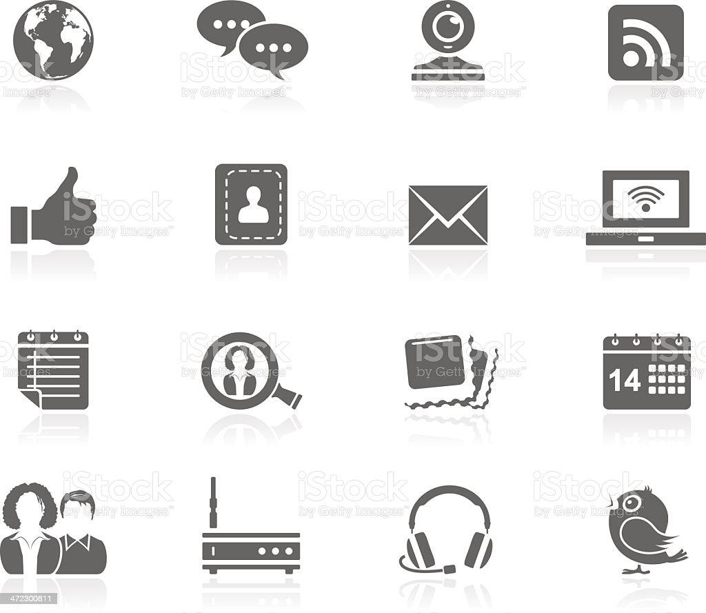 Black Icons - Communication royalty-free stock vector art