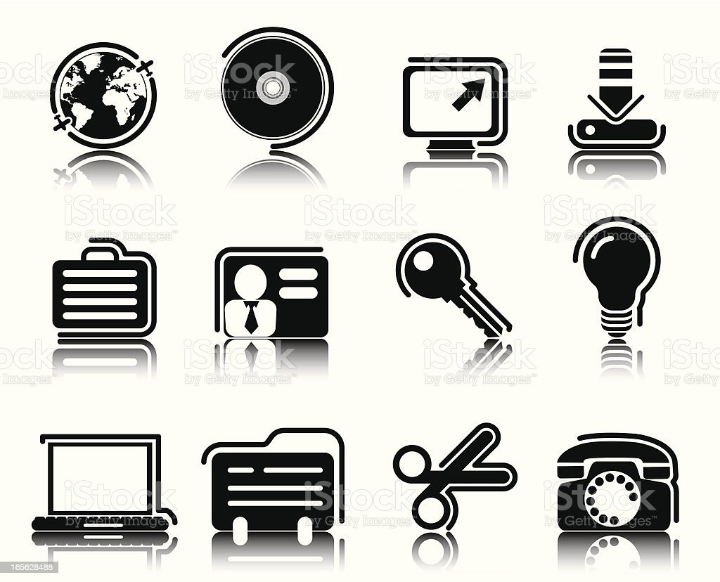Black Icons royalty-free black icons stock vector art & more images of alertness