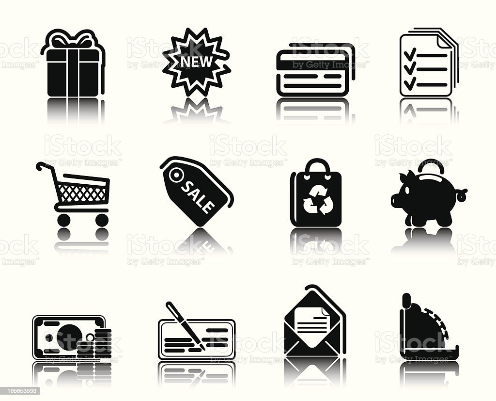 Black Icons royalty-free stock vector art